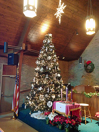 The Christmas Tree in the Sanctuary